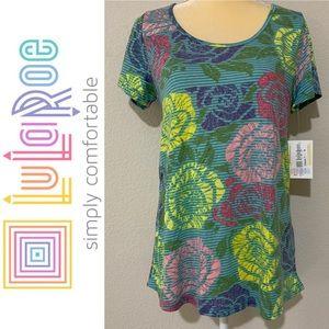 LuLaRoe Floral Classic T Shirt Sz M